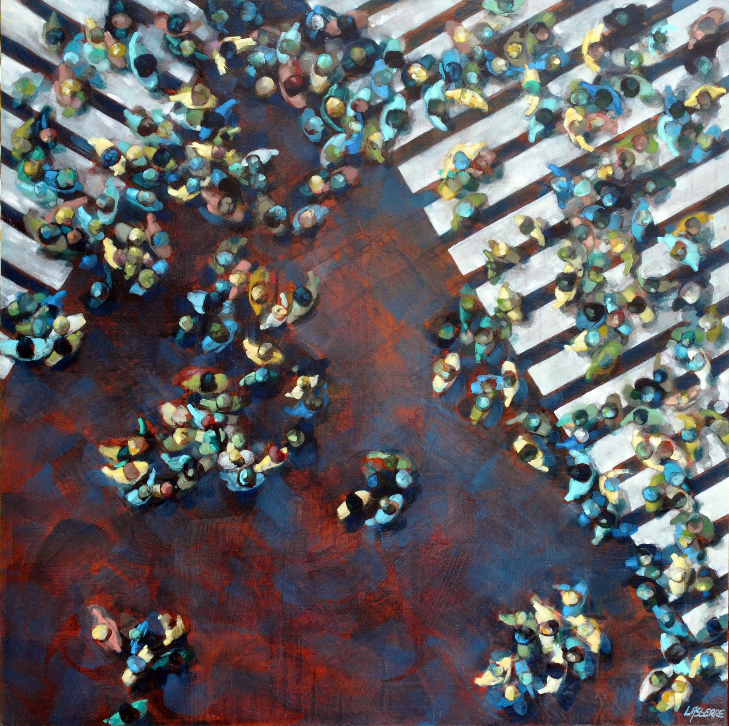 En dehors des clous - 110 110 2020 Huile sur médium ©adagp paris lasserre