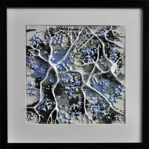 "tableau en porcelaine ""Forêt habitée"" 30 30 Clothilde Lasserre"